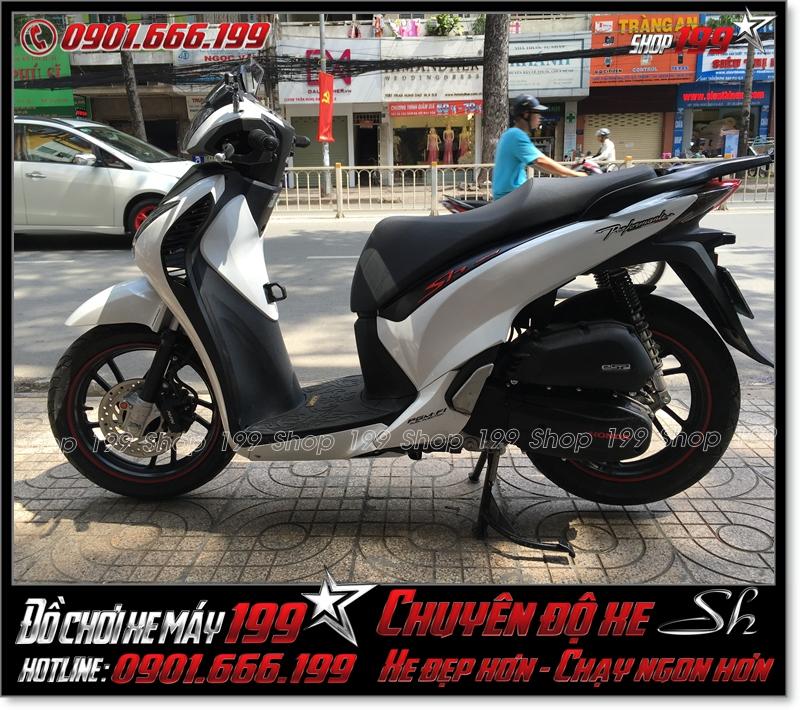 Xe Honda Sh Việt Nam 150i 2015 Smartkey độ full dàn áo lên Sh Ý 150i 2011 giá bao nhiêu ?