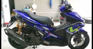 Yamaha NVX 155 độ phuộc Ohlins chính hãng có bình dầu bắt mắt và sang trọng
