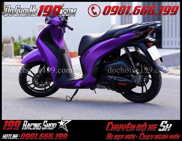Sơn đổi màu tím nhám cho xe Sh Việt 150 cực đẹp và sành điệu